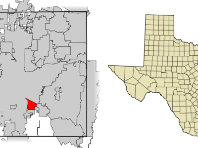 Location Of Forest Hill In Tarrant County Texas