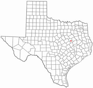 Location Of Groesbeck Texas