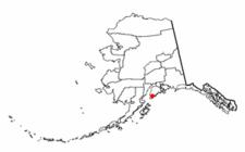 Location Of Halibut Cove Alaska