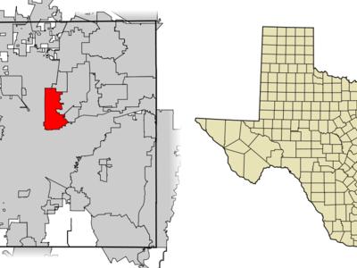 Location Of Haltom City In Tarrant County Texas