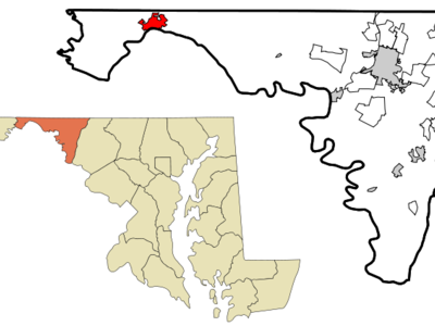 Location Of Hancock In Maryland And In Washington County