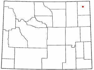 Location Of Hulett Wyoming