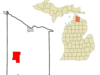 Location Of Indian River Michigan