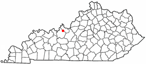 Location Of Irvington Kentucky