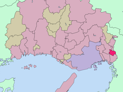 Location Of Itami In Hyogo