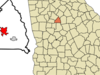 Location In Butts County And The State Of Georgia