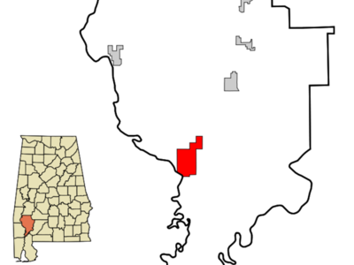 Location In Clarke County And The State Of Alabama