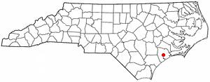 Location Of Jacksonville Within North Carolina
