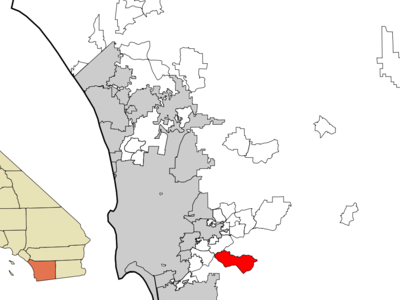 Location In San Diego County And The State Of California