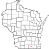Location Of Janesville In Rock County Wisconsin