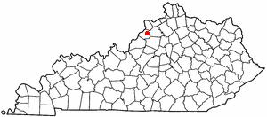 Location Of Lagrange Kentucky