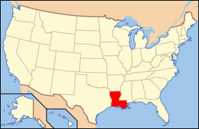 Location Of Louisiana In The United States