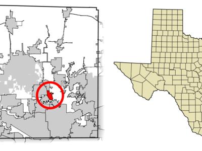 Location Of Lake Dallas In Denton County Texas