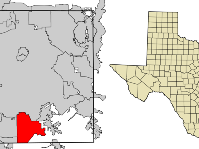 Location Of Lancaster In Dallas County Texas