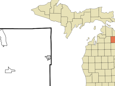 Location Of Lewiston Michigan
