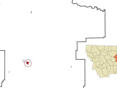 Location Of Lewistown Montana