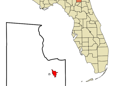 Location In Baker County And The State Of Florida