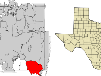 Location Of Mansfield In Tarrant County Texas