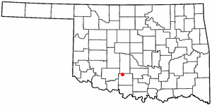 Location Of Marlow Oklahoma