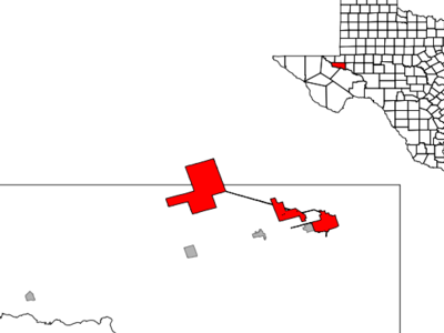 Location Of Monahans Texas