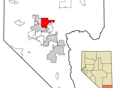 Location Of North Las Vegas In Clark County Nevada