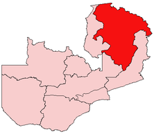 Location Of Northern Province In Zambia