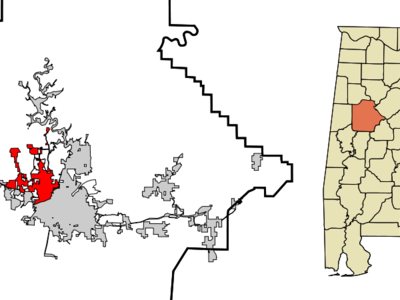 Location In Tuscaloosa County And The State Of Alabama