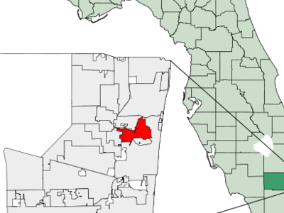 Location Of Oakland Park In Broward County Florida