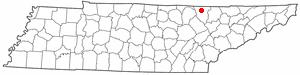 Location Of Oneida Tennessee