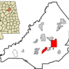 Location In Blount County And The State Of Alabama