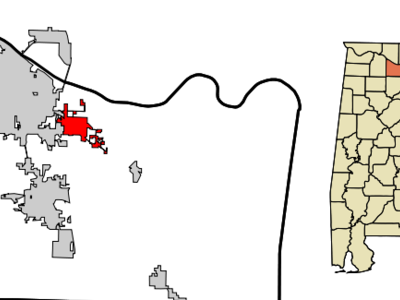 Location In Morgan County And The State Of Alabama