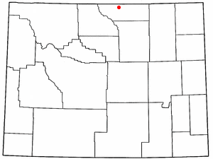 Location Of Ranchester Wyoming