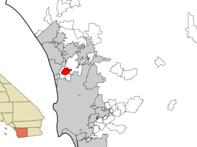 Location Of Rancho Santa Fe Within San Diego County California.