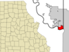 Location Of Riverside Missouri