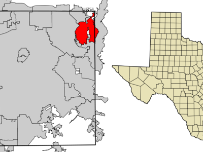 Location Within Dallas County And The State Of Texas