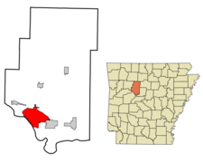Location In Pope County And The State Of Arkansas