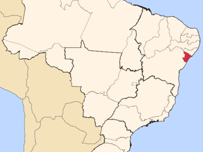 Location Of State Of Sergipe In Brazil