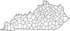 Location Of Shelbyville Kentucky