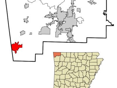 Location In Benton County And The State Of Arkansas