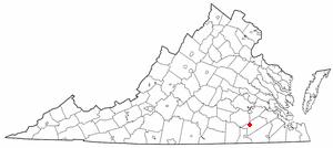 Location Of Stony Creek Virginia