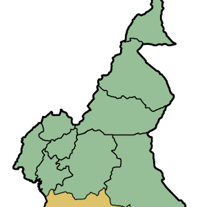 Location Of South Region Within Cameroon