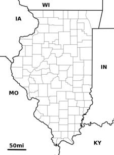 Location Of Swansea Within Illinois