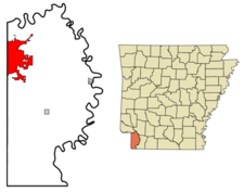 Location In Miller County And The State Of Arkansas