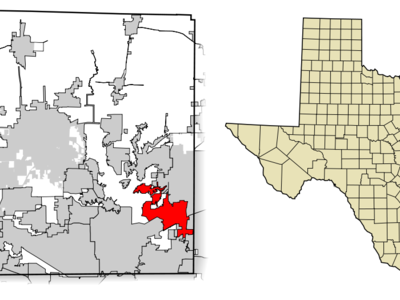 Location Of The Colony In Denton County Texas