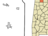 Location In Lawrence County And The State Of Alabama