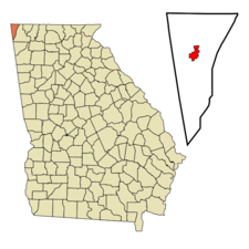 Location In Dade County And The State Of Georgia