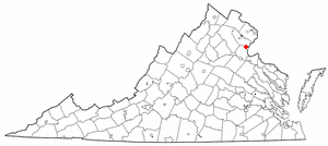 Location Of Triangle Virginia