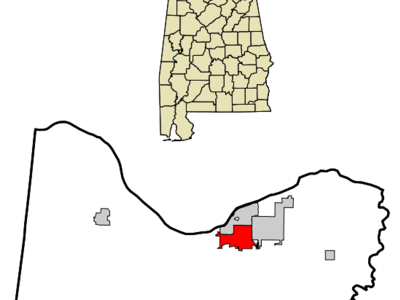 Location In Colbert County And The State Of Alabama