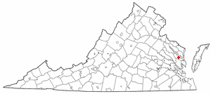 Location Of Urbanna Virginia