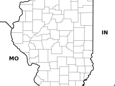 Location Of Vandalia Within Illinois